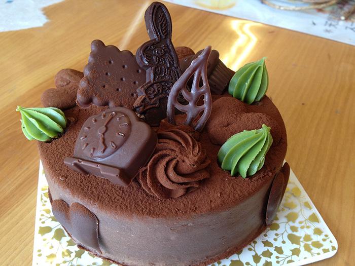 3月うさぎのバレンタインケーキ チョコレートケーキ